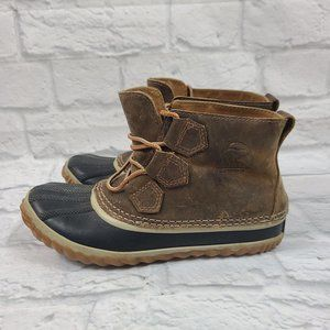 Sorel Brown Black Out N About Boots Size 5